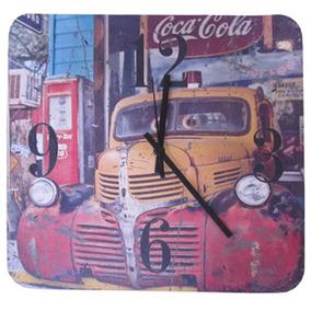 Relógio De Parede Quadrado Caminhão Retro Coca Cola 29 Cm Re