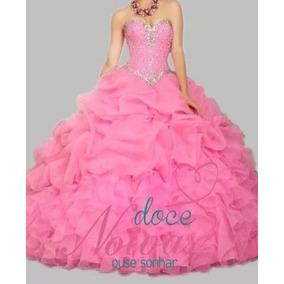 Vestido Debutante Rosa Pronta Entrega Com Brinde
