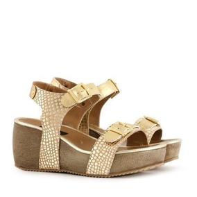 Zapatos Estilo Sandalias De Cuero En Platino Batistella