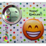 Pin Pines Emojis Emoticones!! Personalizados Prendedor 38mm