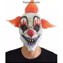 Mascaras Latex Premium Mascara Payaso Asesino Tripelo