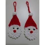 Adornos Navideños: Papá Noel, 6-7 Cms. Tejido A Crochet