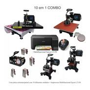 Prensa Termica 10em1 Stc A3 A4 Camiseta +epson L3150 220volt