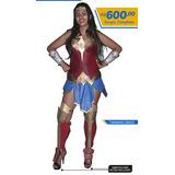 Costume Wonder Woman (roupa Feita Em Borracha De Eva E Napa)