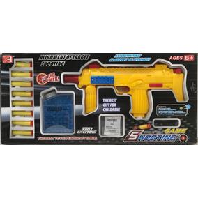 Arma Metralhadora Lançador De Nerf E Bolinha De Gel Pressão