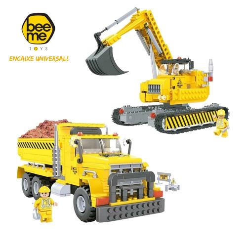 Blocos De Montar - Equipe Construtora 605 Pe?as Bee Blocks