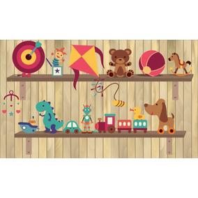 Painel Lona Brinquedos Infantis (2) 5x3 Display Envio 48h