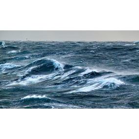 Mar Enarbolado Tormenta Marina. Cuadro Fotográfico 50x70 Cm