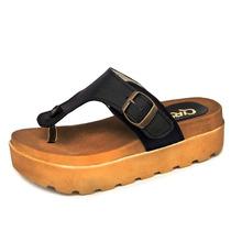 Sandalias Ojotas Cuero Metal Plataforma Calzado Ciro Art955