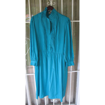 Vestido Color Turquesa-marca Mihang-korea-año 80