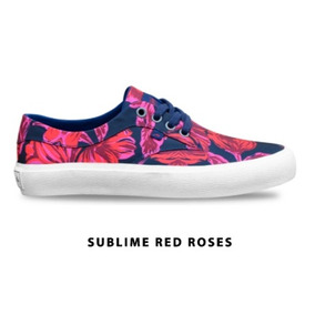 Zapatilla Rusty Sublime Red Roses 01718 Cro