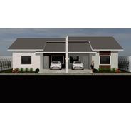 Planta De Casa Geminada - Projeto Arquitetônico Completo
