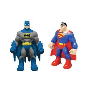 Mordedor Macios Kit Com Super Homem + Batman
