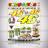 Cartela Valentino Rossi Bimota Db6 Adesivos Resinados