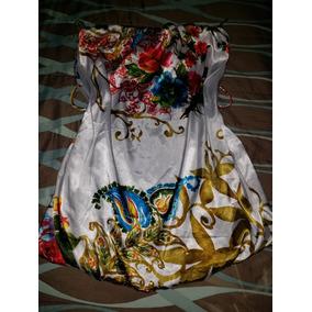 Lindo Vestido Corto, Satinado, Floral Talla L