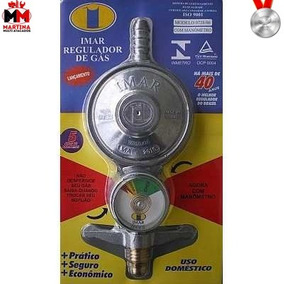 Registro Regulador Válvula De Gás Para Botijão Com Medidor