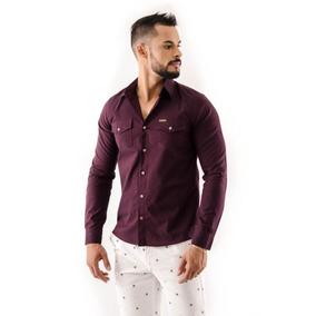 c06615a448 Camisa Polo Vinho Da Pool - Camisa Manga Longa no Mercado Livre Brasil