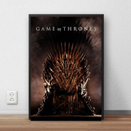 Quadro Decorativo Game Of Thrones Com Moldura A4 Premium