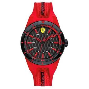 Relógio Ferrari 830287 Vermelho Preto Garantia 12x Sem Juros