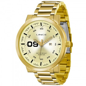 Relógio Lince Mrgh017s C2kx Dourado Redondo Masc - Refinado