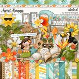 Kit Scrapbook Digital - Aloha - Havaii - Envio Rapido