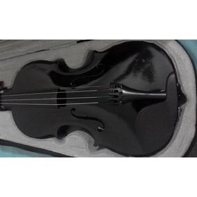 Violino 4/4 - Para Iniciantes - Preto - Com Case E Arco
