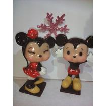 Mickey O Minnie Mouse De Pasta Flexible De 10cm