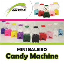 Mini Baleiro Candy Machine 10 Cm Kit Com 50 Unidades