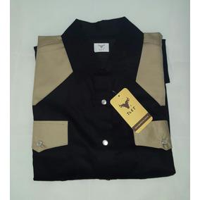 Camisa Tret Para Caballero Cafe Con Negro