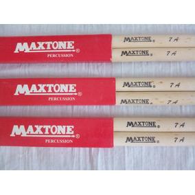 Baquetas Bateria Maxtone 7a Pta Nylon