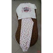 Pijama Flanelado Mãe E Filha Cama Travesseiro Lençol 2 Peças