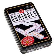 Juego De Domino Doble 6 Caja Metalica 28 Fichas A Color