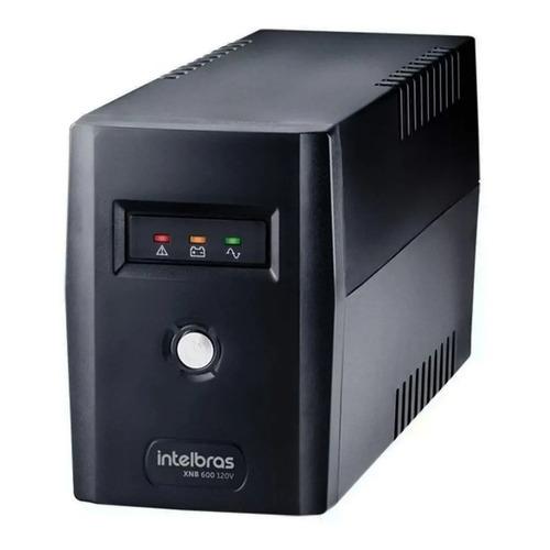No break Intelbras XNB 600 600VA entrada e saída de 120V preto