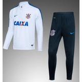 Kit Agasalho Corinthians Pré-jogo Branco/azul Frete Grátis