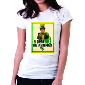 Bolsonaro 2018 Presidente Camiseta Feminina Protesto