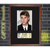 Justin Bieber Foto Firmada Y Entrada Recital Argentina 2013