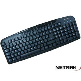 Teclado Netmak Nm-kb8100mu Multimedia Usb