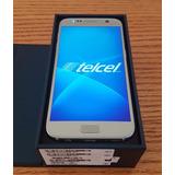 Super Samsung Galaxy S7 Telcel Plata Inmaculado Desbloqueado
