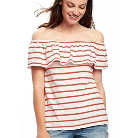 Remera Old Navy Rayada Off The Shoulder Talle Grande Xxl