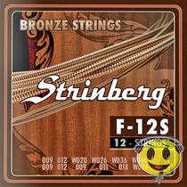 Encordoamento Violão 12 Cordas Strinberg F-12s Loja Kadu Som