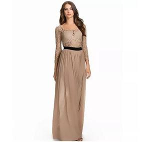 Vestido Longo Festa Renda Feminino Mãe Do Noivo