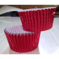 Pirotines Cupcakes Metalizado Nº 10 X 10 U. Color: Rojo