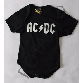 Body Infantil Bebê Banda Rock Ac/dc Personalizado Algodão