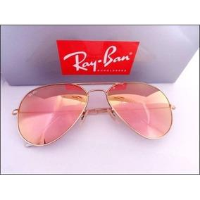 Oculos Aviador Feminino Espelhado Rose - Óculos De Sol no Mercado ... 6bd50b9e41