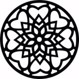 Quadro Mandala Decoração Parede Vazada Mdf 50cm Md. 03