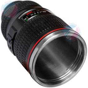 Caneca Termica Lente Canon Nikon Fuji 24-105mm Copo Café