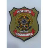 Brasão Emborrachado Agente Vigilante + Frete Gratis