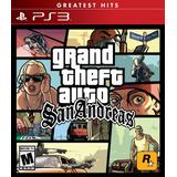 Gta Grand Theft Auto San Andreas Digital 100% Original Ps3
