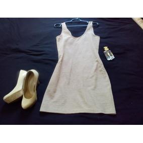 Vestido Sencillo Color Beige Talla M