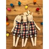 Muñecos Conejos Bambis Tela Herminda Kids Para Ellos